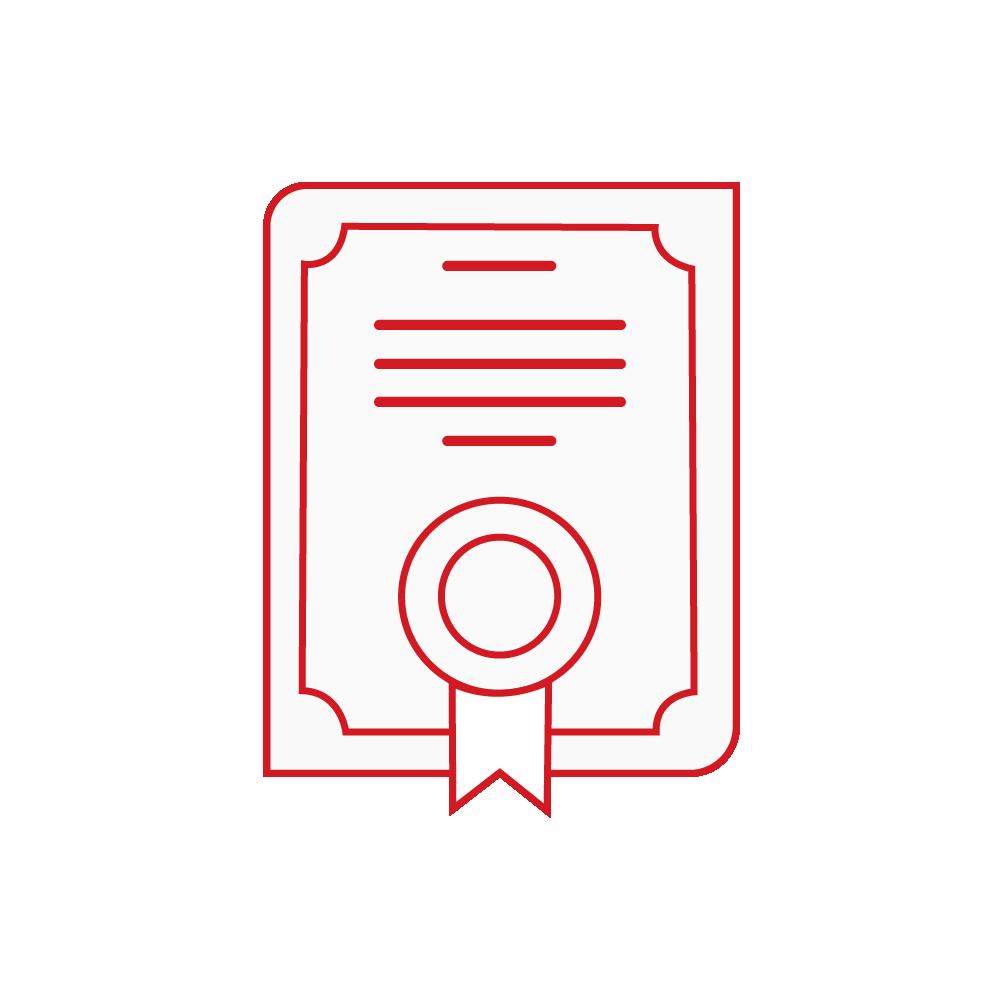 visuel certifications rouge